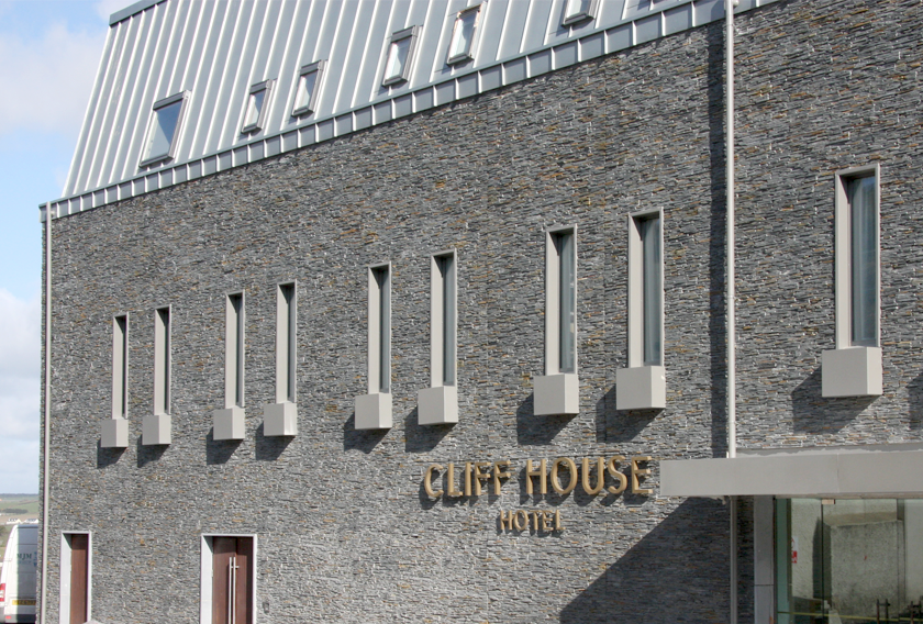 STONEPANEL in the Cliff House Hotel facade