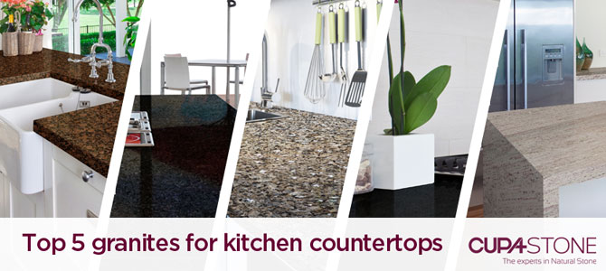Top 5 granites for kitchen countertops