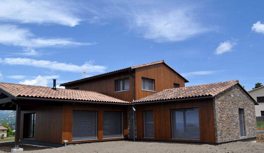 Passivehaus built with a facade of STONEPANEL™