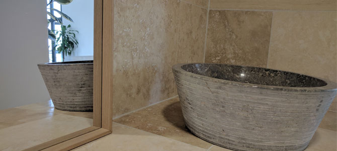 Natural stone for bathrooms