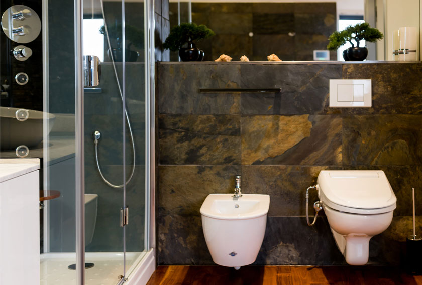Multicoloured Slate CUPA STONE for bathrooms