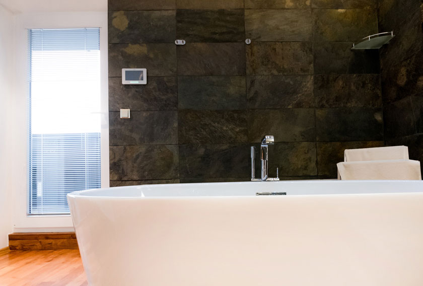 How you would use natural stone in your bathroom