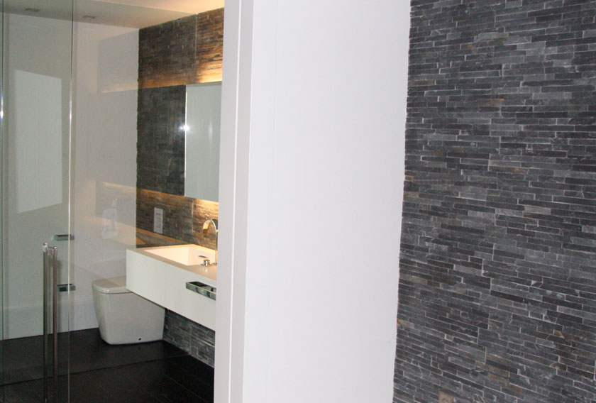 DECOPANEL Black Slate CUPA STONE for bathrooms