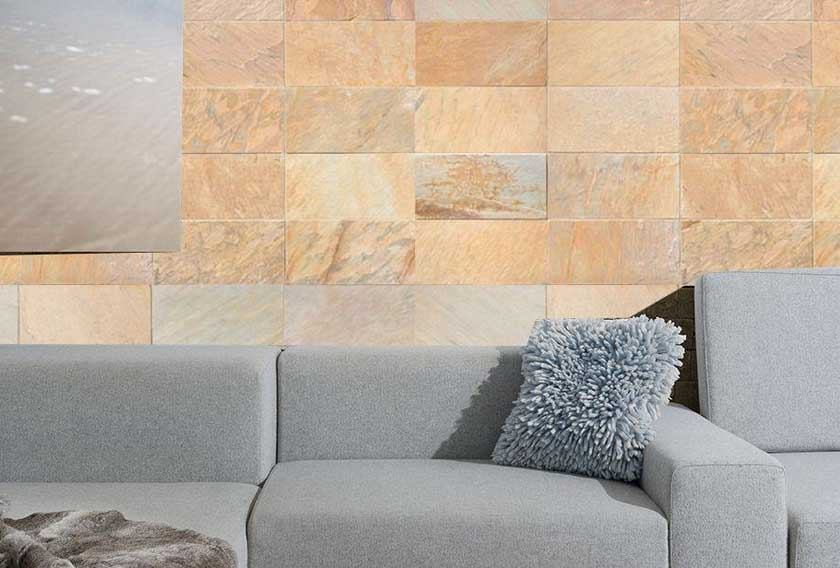 A natural stone wall cladding