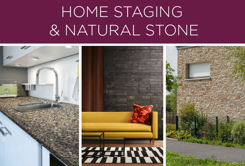 Natural stone for home staging