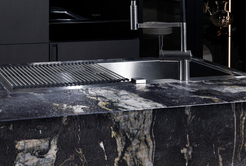 A natural stone countertop is perfect for a kitchen renovation