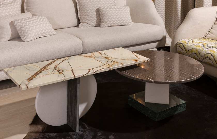 Quartzite table in a living room