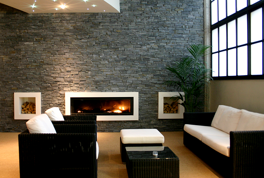 Stonepanel Black Slate for living rooms