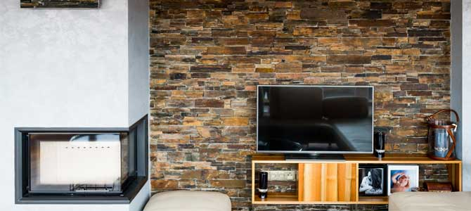 Stonepanel Multicolor for living rooms