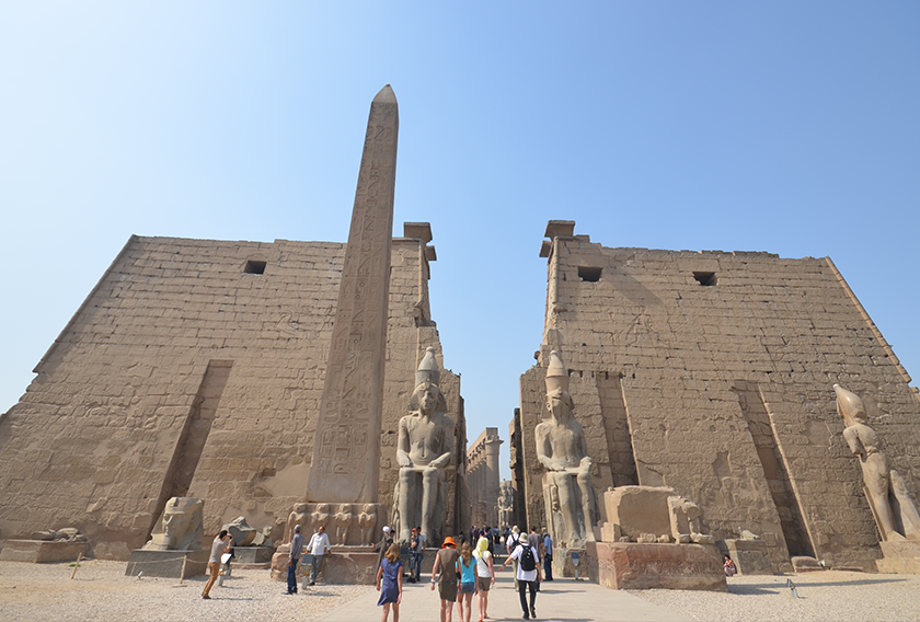 Entrance of Luxor Temple, Luxor, made of granite