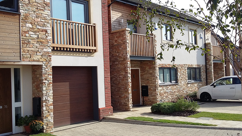 STONEPANEL, a modern finish to the Best Zero Carbon housing development in the UK