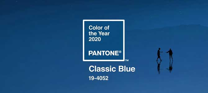 Classic Blue, Pantone Color of the Year 2020